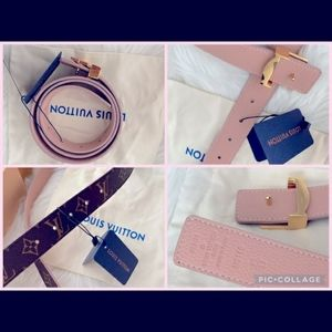 Louis Vuitton pink reversible belt NWT and box